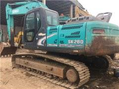 神钢SK260二手挖掘机市场
